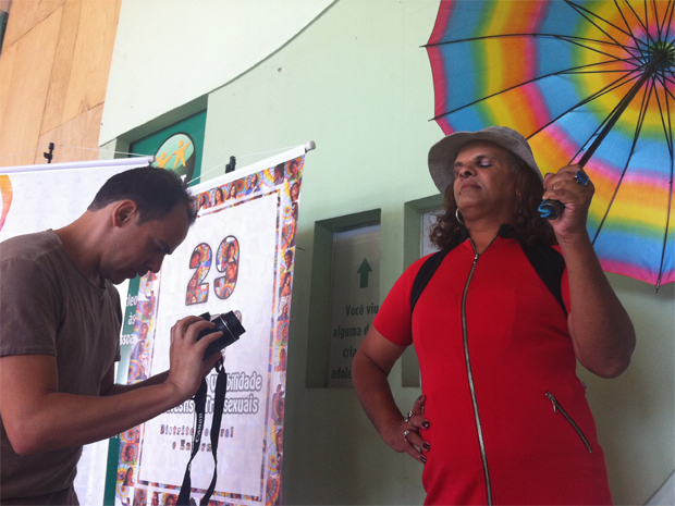 Secretaria de Desenvolvimento Social, do Distrito Federal, promove ensaio fotográfico de travestis e transexuais por ocasião das comemorações do Dia da Visibilidade de Travestis e Transexuais, comemorado em 29 de janeiro. (Foto: Rafaela Céo/G1)