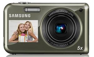 Câmera com visor na parte da frente, a Samsung PL 120 (Foto: Divulgação)
