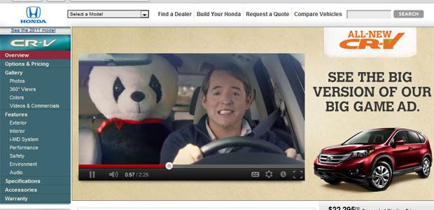 comercial honda cr-v (Foto: Reprodução/Honda)