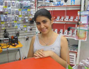 Glória Acuneia, que trabalha na New Digital, no centro de São Paulo (Foto: Amanda Demetrio/G1)