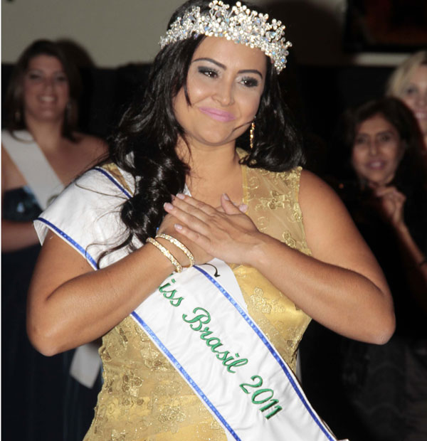 Miss Plus Size Brazil, Barbara Monteiro, was crowned at a beauty pageant held Sunday 29 January 2012, in Sao Paulo, Brazil