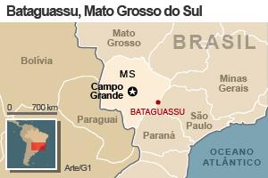 Mapa de Bataguassu, MS (Foto: Editoria de Arte/G1)
