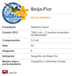Ficha Beija-Flor (Foto: Editoria de Arte/G1)