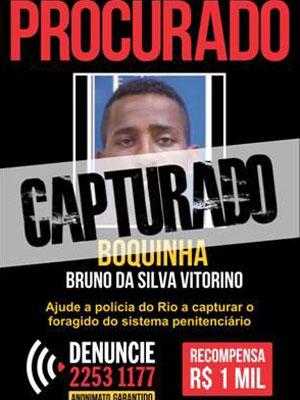 Cartaz do Disque-Denúncia oferecia R$ 1 mil de recompensa por informações que levassem a segurança do traficante FB (Foto: Divulgação/Disque-Denúncia)