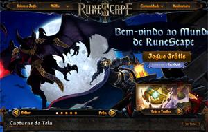 Tela do site do jogo RuneScape, disponível em português (Foto: Reprodução)