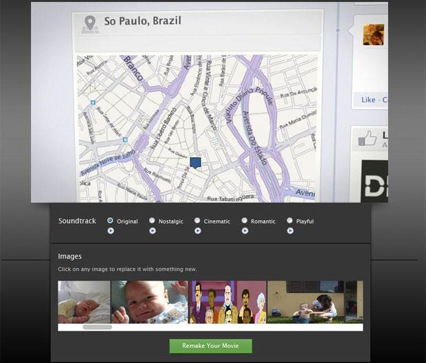 Ferramenta na web cria filme baseado na 'Timeline' do usuário no Facebook (Foto: Reprodução)