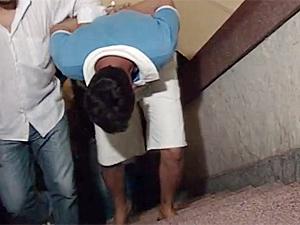 Suspeito de estuprar e matar Rebeca foi preso no sábado (28) (Foto: Reprodução/TV Cabo Branco)