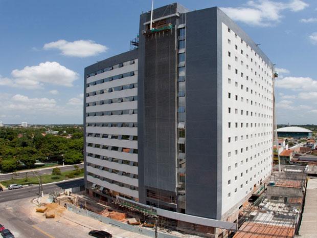 Obra de complexo hoteleiro da BHG, em Belém, com inauguração prevista para este ano (Foto: Divulgação)