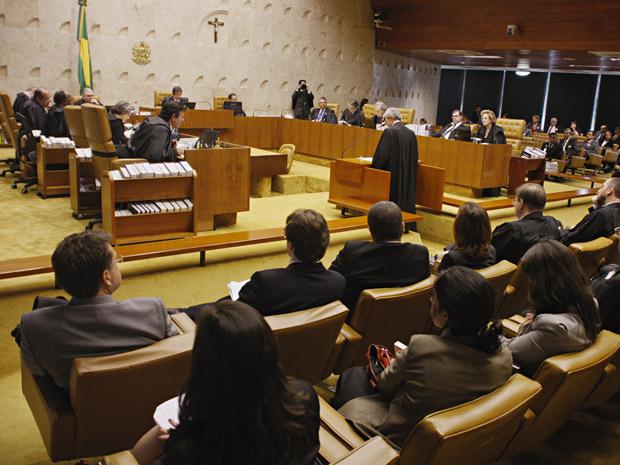 Sessão do Supremo que analisa poderes do CNJ (Foto: Gervásio Baptista/SCO/STF)