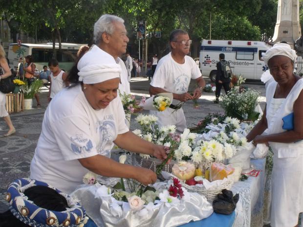 Cortejo em homenagem ao Dia de Iemanjá  (Foto: José Carlos Pereira de Carvalho/VC no G1)