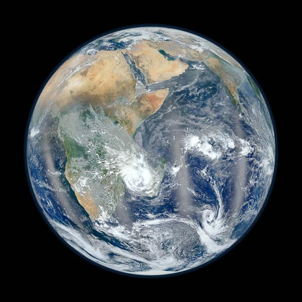 Foto em alta resolução divulgada em 2 de fevereiro mostra África, Oriente Médio e Sudeste Asiático (Foto: NASA/NOAA)