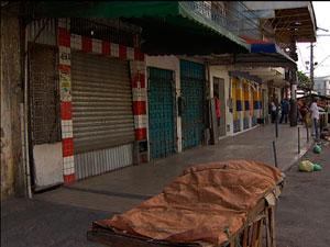 Temendo crimes, comerciantes fecham lojas mais cedo em bairros de Salvador (Foto: Imagens/ TVBA)