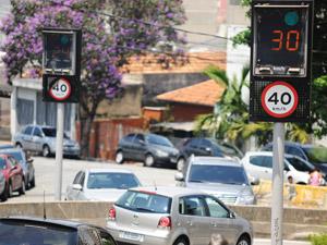 lombada eletrônica (Foto: Raul Zito/ G1)