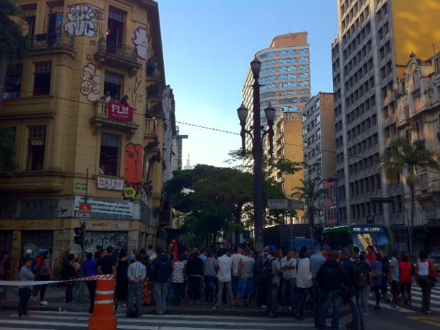 reintegração centro são paulo (Foto: Juliana Cardilli/G1)