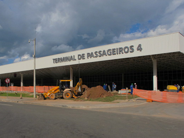 Novo terminal do aeroporto de Cumbica, em Guarulhos, que vai ter voos da Webjet (Foto: Renato Jakitas/G1)