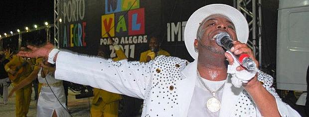 Sandro Ferraz, da escola Império da Zona Norte, do carnaval de Porto Alegre (Foto: Sandro Ferraz, Arquivo Pessoal)