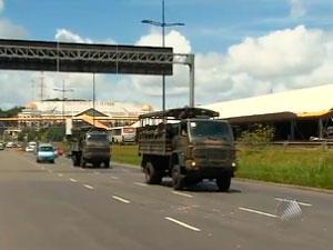 Comando da PM diz que não há previsão de negociação com policiais grevistas (Foto: Reprodução/ TV Bahia)