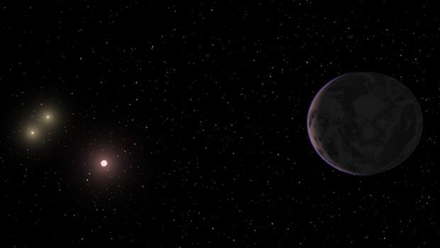 Ilustração do planeta GJ667Cc (Foto: Carnegie Institution for Science/Divulgação)