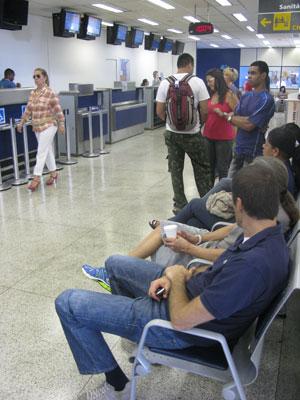 Saguão do aeroporto de São José dos Campos (Foto: Gabriela Gasparin/G1)