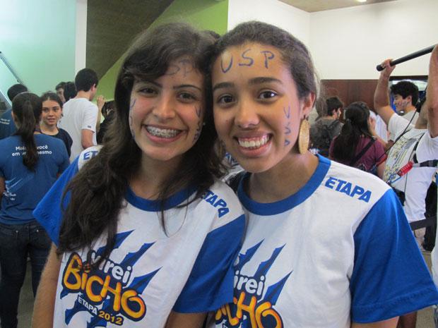 Tábata Amaral e Wesla Monteiro conseguiram vaga na USP (Foto: Vanessa Fajardo/ G1)