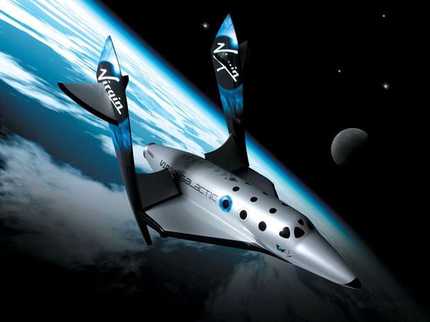 SpaceShipTwo, nave da Virgin Galactic que levará turistas ao espaço (Foto: Divulgação)