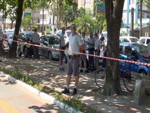 Ciclovia foi interditada onde agente foi assassinado (Foto: TV Tribuna)