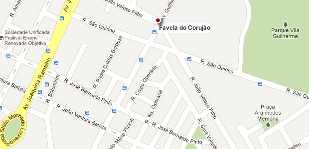 mapa favela corujão (Foto: Arte/G1)