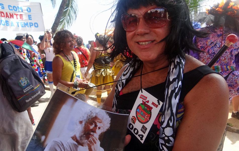 'Tereza Cristina' apareceu para abrilhantar o desfile das Virgens de Verdade