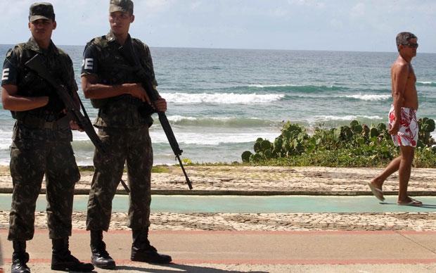 força nacional de segurança bahia (Foto: Aristides Baptista/Agência A Tarde )