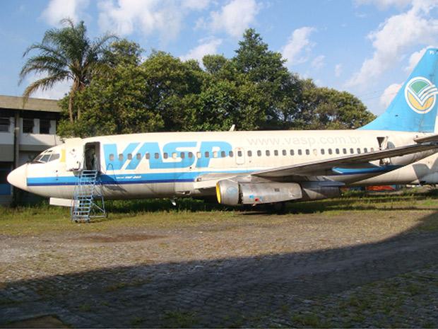 Aeronave leiloada nesta segunda-feira (6), em imagem divulgada pela empresa Freitas Leiloeiro Oficial, responsável pelo evento. (Foto: Divulgação)