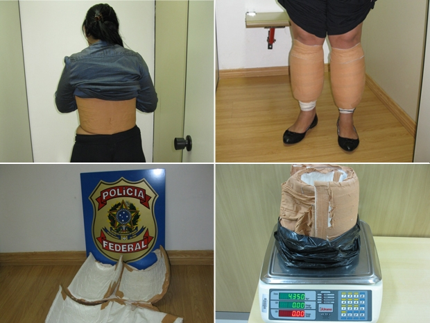 Woman busted at Iguassu Falls International Airport with over 4 kg of cocaine bound to her body. She told police the drugs came from Paraguay and was bound for Syria