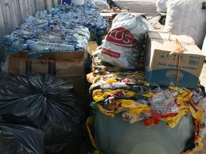 Material reciclável recolhido no Festival (Foto: Divulgação)