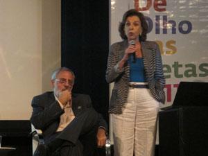 Os consultores da Fundação Cesgranrio, Nilma Fontanive e Ruben Klein comentaram os dados nesta terça (Foto: G1)