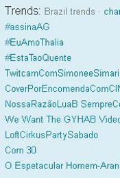 Trending Topics no Brasil às 17h07 (Foto: Reprodução)