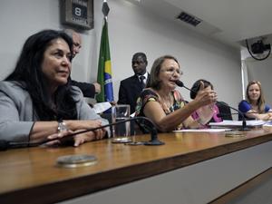 Deputadas e senadoras durante instalação da CPI sobre a violência contra a mulher (Foto: Luiz Alves/Ag. Câmara)