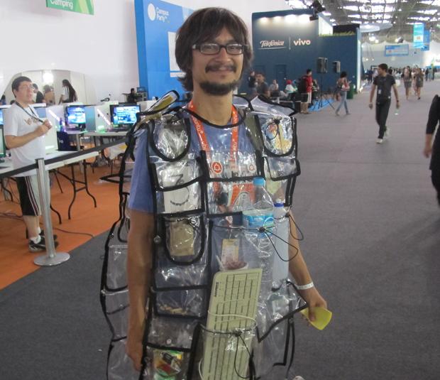 O artista Peri Pane, de 36 anos, na Campus Party (Foto: Gustavo Petró/G1)