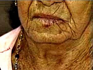 Suspeito confessou e depois negou o crime, mas idosa está machucada, diz delegada. (Foto: Reprodução / TV Diário)