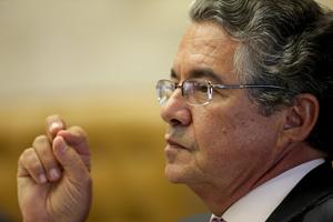 O ministro Marco Aurélio Mello durante julgamento no Supremo Tribunal Federal (Foto: Carlos Humberto / STF)