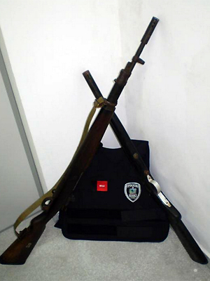 Rifle 762 e espingarda calibre 12 estavam em Campina Grande (Foto: Divulgação/Polícia Civil)