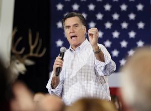 Candidato republicano Mitt Romney fala em evento de campanha na cidade de Loveland, Colorado, nesta terça-feira (7) (Foto: Reuters)