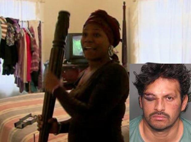Lucio Miranda tentou roubar casa, mas acabou apanhando da dona. (Foto: Reprodução)