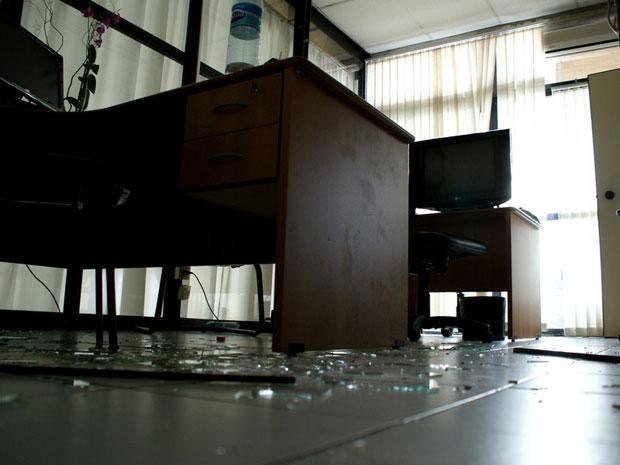 Assembleia da Bahia desocupada (Foto: Egi Santana/G1)