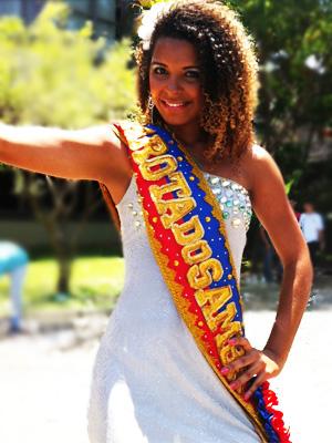 Vencedora do Garota do Samba (Foto: Leandro Nossa / G1 ES)