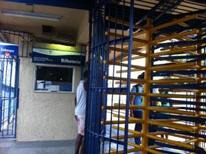 Estação Sampaio (Foto: Thamine Leta/G1)