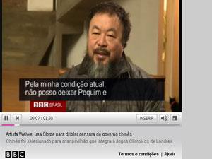 Weiwei (Foto: Reprodução BBC)
