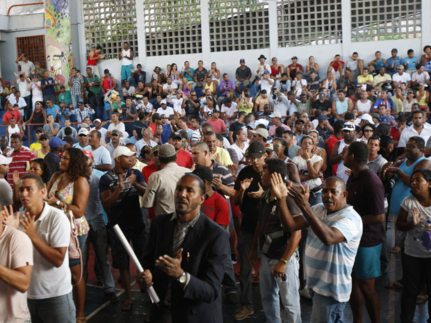 pms; bahia; greve (Foto: Margarida Neide/Agência A Tarde)