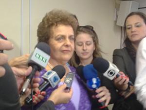 A nova ministra da Secretaria de Política para Mulheres, Eleonora Menicucci, em entrevista coletiva nesta sexta (10) (Foto: Filipe Matoso / G1)