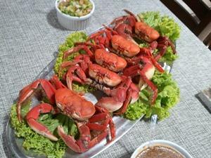 Comer caranguejo faz parte da lista de atividades do turista (Foto: Joelma Gonçalves/G1 SE)