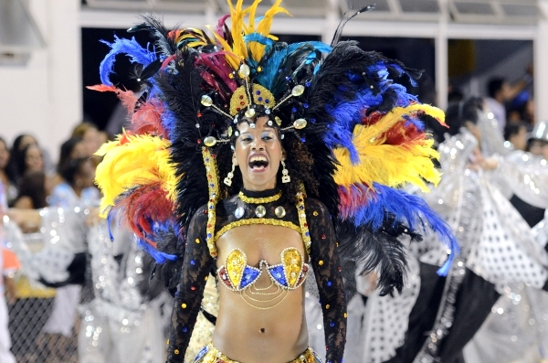 Passista da Pega No Samba (Foto: Weliton Aiolfi/ G1ES)