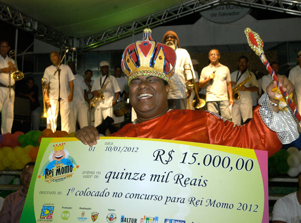 Rei Momo de Salvador (Foto: HÁLICE FREITAS/SECOM-PMS)